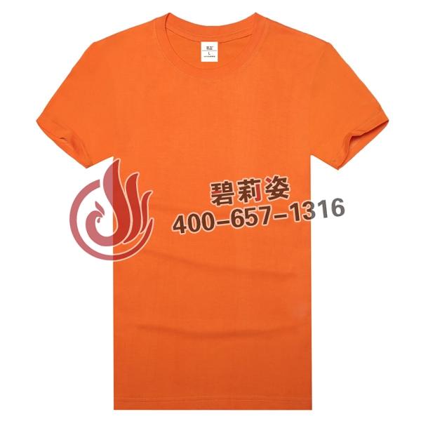 橘色文化衫定制